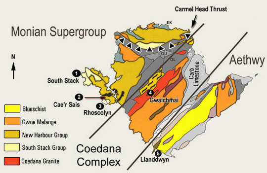 anglesey geological map